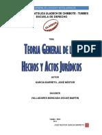 Teoria General de Los Hechos y Actos Juridicos