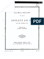 Sonate en UT - Jean-Marie Leclair