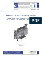 m062 - Manual Hiladora Completo Fv200 - Spa 2013
