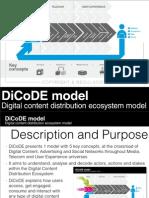 DiCoDE Model - Digital Content Distribution Ecosystem