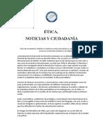 ÉTICA,  NOTICIAS Y CIUDADANÍA 2017