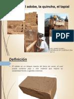 Clase El Adobe Quincha y Tapial