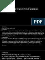 16 Factores de Personalidad de Cattel