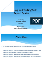 Self Report Scales Presentation
