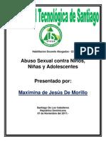 Qué Es El Abuso Sexual Contra Un Niño