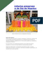 Universitarios Preservan Tradición de Día de Muertos