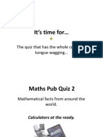 Maths Pub Quiz 2