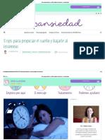 3 Tips Para Propiciar El Sueño y Bajarle Al Insomnio – Desansiedad