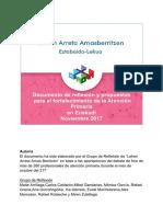 Reflexiones y Propuestas de Lehen Arreta Arnasberritzen_Noviembre_2017