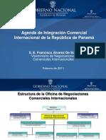 Vision Integral de La Agenda de Integracion de La Republica de Panama