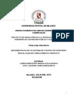 Ok Implementacion de Un Sistema de Control de Inventario Para El Almacen Credicomercio Naranjito