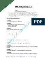 CBSE Sample Paper- 3