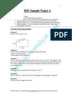 CBSE Sample Paper -4