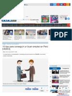 10 Tips Para Conseguir Un Buen Empleo en Perú