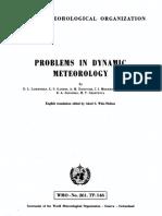 Wmo 261 Problem Dynamic Atmosferic