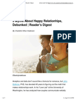 5 Myths About Happy Relationhips, Debunked _ Reader's Digest