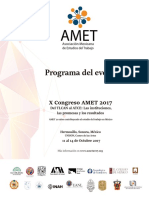 Programa General,  Congreso Amet 2017