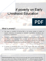 effects of poverty on early childhood education