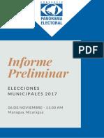 Informe Preliminar Panorama Electoral 6 de Noviembre 2017