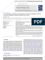 Examination Correlation and Comparison of Static and Dynamic Measures of Postural Stability in Healthy Physically Active Adult