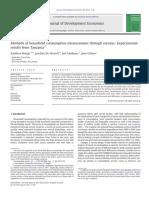 Beegle Et Al JDE 2012 - Methods of household consumption measurement through surveys