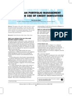 Active Loan Portfolio Management Through Credit Derivatives