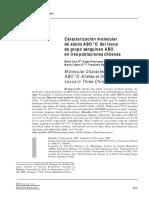 Caracterización molecular de alelos ABOO del locus de grupo sanguíneo ABO en tres poblaciones chilenas