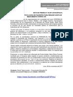 BANCADA DEL FA APOYA LUCHA DE PACIENTES PARA REDUCIR COSTO DE MEDICAMENTO CONTRA VIH