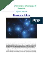 Manual del astronomo aficionado pdf descargar