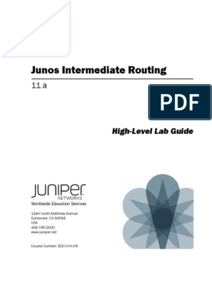 JUNOS Intermediate Routing-11a-Lab Guide pdf | Command Line