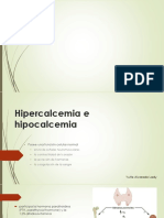 Hipercalcemia e Hipocalcemia