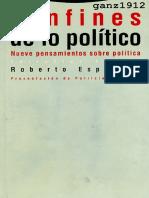 Confines de Lo Politico Nueve Pensamientos Sobre La Politica(Roberto Esposito)