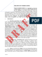 Bibb County / Amazon Memorandum of Understanding DRAFT