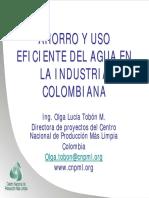 Ahorro y Uso Eficiente Del Agua en La Industria Colombiana