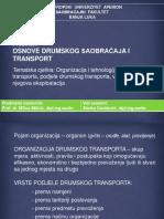 Organizacija i Tehnologija Drumskog Transporta Podjele Drumskog Transporta Vozni Park i Njegova Eksp