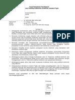 Surat Pernyataan Persetujuan Pengunaaan E-Elektronik