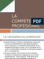 2.4. La Competencia Profesional