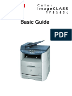 Basic Guide Canon MF 8180c (Ingles)