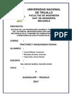 Estudio de la Propiedades dinamico-traccionales del bus interprovincial Mercedes Benz