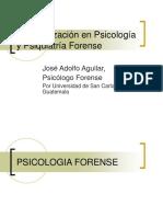 PSICOLOGIA Y PSIQUIATRIA FORENSE