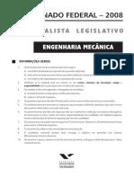 Fgv 2008 Senado Federal Engenheiro Mecanico Prova