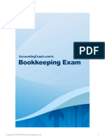 Bookkeeping Exam