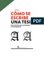 2008 Tesis - Como Se Escribe - Soriano