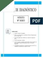 Prueba de Diagnostico Matematica 8basico