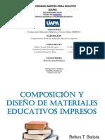 Presentacion Diseño y Materiales Educativos Impresos