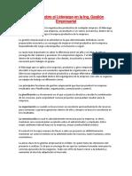 Ensayo Sobre Emprendedor y Las Cualidades de La Carrera de IGE en La Empresa