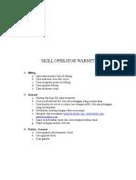 Skill Opreator Warnet