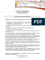 Compte Rendu Du Conseil Des Ministres - Mercredi 8 Novembre 2017