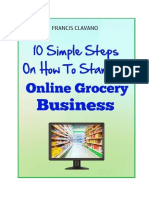10 Simple Steps on how start an online grocery