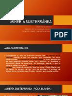 MINERÍA SUBTERRÁNEA (2016)